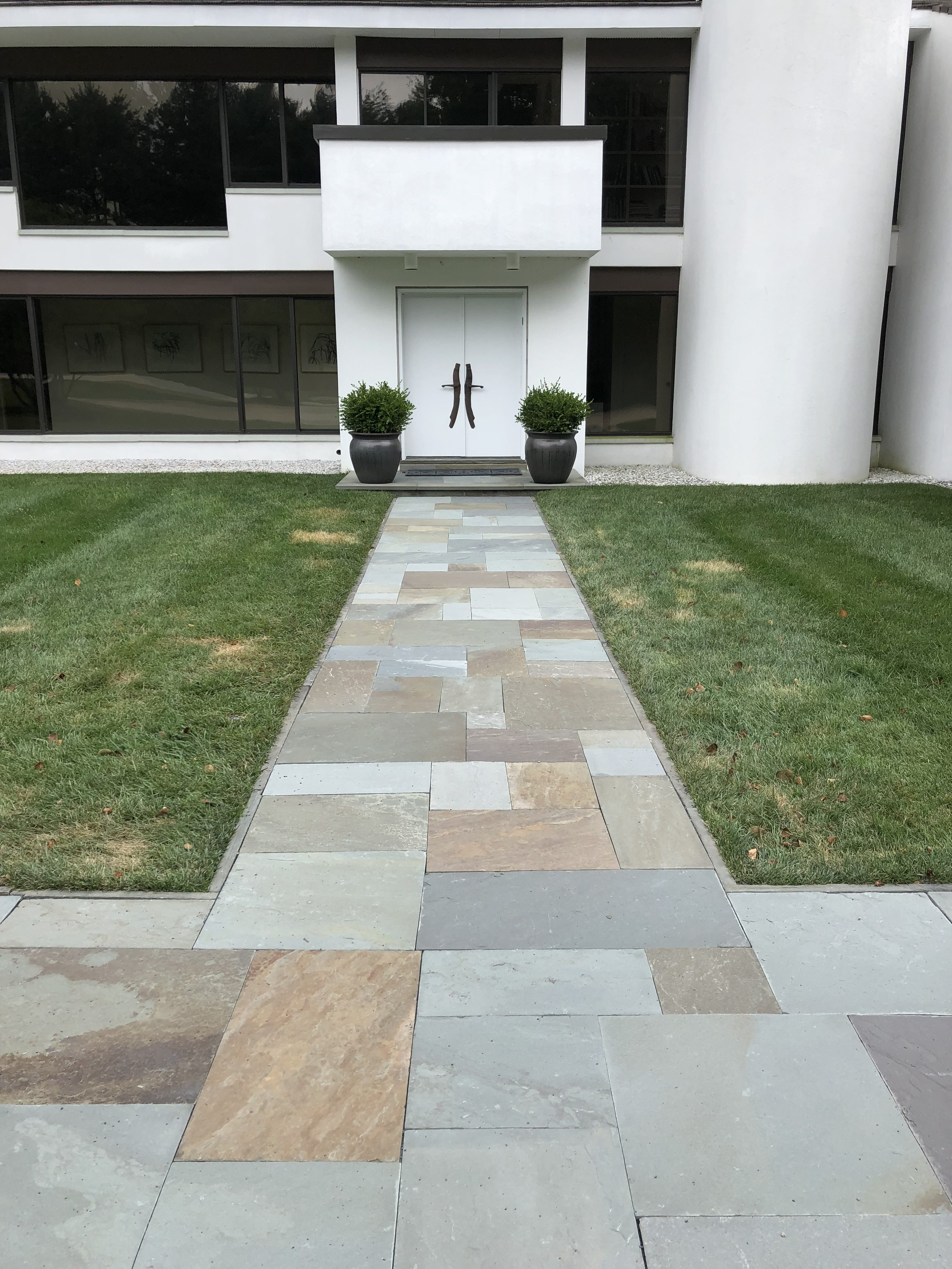 Blue Stone Front Walkway