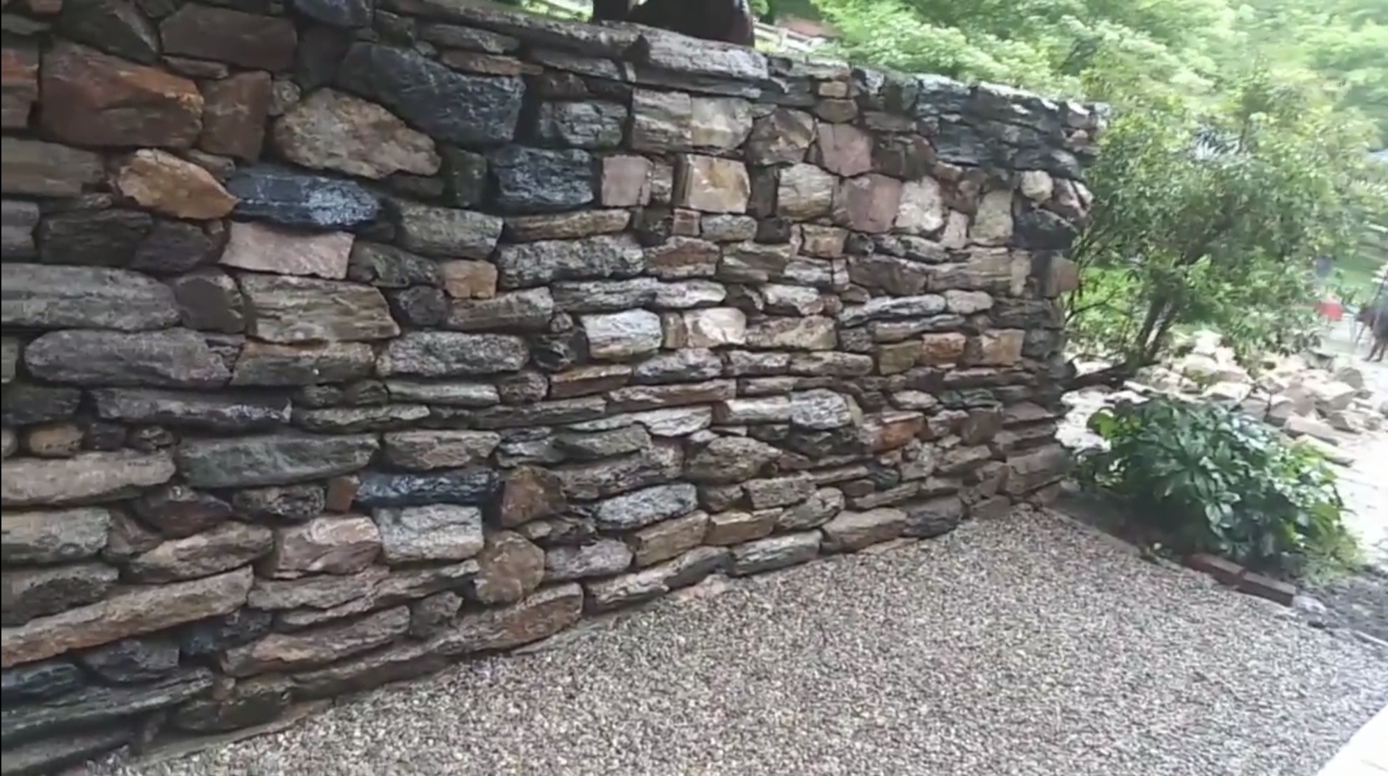 Rebuilt 100 year old wall